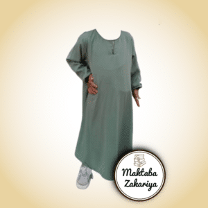 Librairie musulmane - Abaya manches droites - Vert menthe - Binti